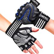 Gym Gloves, OMERIL 5MM Padded Weight Lifting Gloves