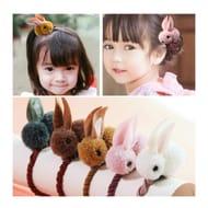 Girls Hair Clip - Cute 3D Plush Rabbit Design