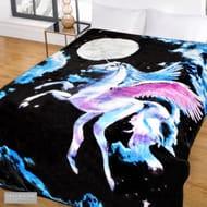 Faux Fur Throw - Midnight Unicorn 150 X 200 Cm