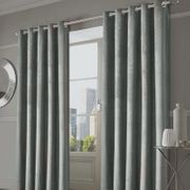 """Capri Velvet Eyelet Curtains 46"""" X 54"""" (Also in Other Sizes)"""