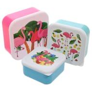 Flamingo Design Lunch Boxes - Set of 3