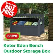 Prime Day Deal: Keter Eden Bench Outdoor Storage Box