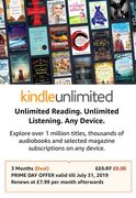 Prime Deal - 3 Months Kindle Unlimited for FREE