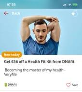 GET £56 off dnaFIT Health Fit VERYME REWARDS