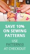 Save 10% on Sewing Patterns