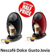 Nescafe Dolce Gusto Jovia Coffee Machine - Black / Red