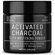 Activated Charcoal Natural Teeth Whitening Powder Peppermint Flavour