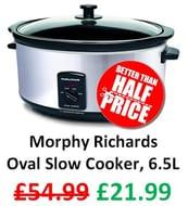 Prime Day Deal: Morphy Richards Oval Slow Cooker, 6.5 Litre **4.5 Stars**