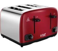 *HALF PRICE* RUSSELL HOBBS Cavendish 4-Slice Toaster - Red