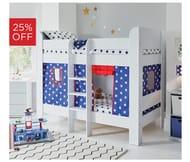 Paddington Bunk Bed Navy Stars on Sale
