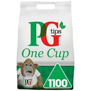 SAVE £10 - PG Tips One Cup Pyramid Tea Bags (1100) PRIME DAY DEAL