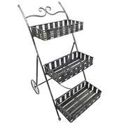 3 Tier Metal Garden Plant Stand Flower Pot