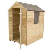 PRIME DAY DEAL, save £75 - 6x4 Apex Overlap Garden Shed