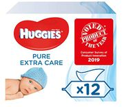 Huggies Pure Extra Care Baby Wipes, 12 Packs X 56 Sensitive Baby Wipes