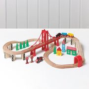 George Home Wooden Train Set and Table