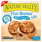 Nature Valley Nut Butter Cups Peanut Chocolate 4 Pack 140G *HALF PRICE