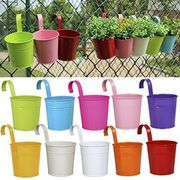 Prime Day - 10 X Coloured Metal Hanging Plant Pots £11.96 / £1.19 Each