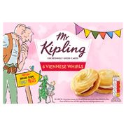 Mr Kipling 6 Viennese Whirls Down From £1 to £0.85