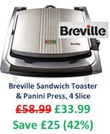 Toastie Time! Breville Sandwich Toaster & Panini Press, 4 Slice - PRIME DAY DEAL