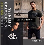 Extra 15% off Sportswear & Fitness