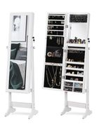 40% off at LUXFURNI LED Light Jewelry Cabinet Standing Mirror Makeup