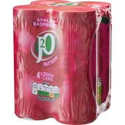 J2O Apple and Raspberry Cans 4x250ml