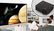 Mini HD 1080P Projector with 84 Inch Screen - 2 Colours