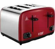 RUSSELL HOBBS Cavendish 24092 4-Slice Toaster - Red - Currys