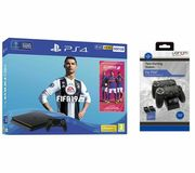 SONY PlayStation 4 500 GB with FIFA 19 & Twin Docking Station Bundle Only £259
