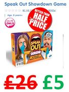 Speak Out Showdown Game. NOT £26....£5! ONLINE ONLY DEAL