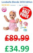 PRICE DROP! save £55 - Luvabella Blonde 2018 Edition - ONLINE ONLY DEAL