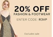 20% off Selected Fashion and Footwear