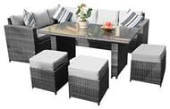 9 Seater Outdoor Rattan Garden Furniture