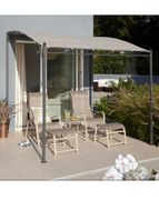 3.5M Metal Polyester Coated Wall Gazebo