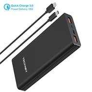 TeckNet USB-C PD Power Bank, QC 3.0 Portable Charger 20000mAH