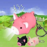 Cute Pig Keychain LED Flashlight Keyring