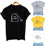 Loose Top Women Funny Short Sleeve Cotton T-Shirt Cute Junior Graphic Tee Blouse