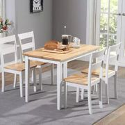 *SAVE £338* Chiltern 115cm Oak and White Dining Table Set with Chairs