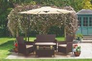 4pc Rattan Garden Furniture Lounge Set