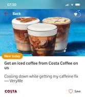 Free Iced Coffee VERY ME REWARDS