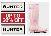 HUNTER SALE - up to 50% off Hunter Boots, Jackets, Coats Etc.