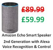 Amazon Echo Smart Speaker (2nd Gen) + 2 Year JL Guarantee + FREE DELIVERY