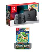 NINTENDO SWITCH GREY with £30 ESHOP CREDIT+YOSHI'S CRAFTED WORLD Only £299.99