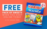 Free Pack of Sweets When You Shop Online Today