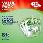 Best Price! Dettol Wipes Biodegradable Antibacterial Wipes X 450