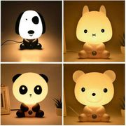 Cute Animal Ambience Sleeping Night Light Baby Room Lamp Kid Bed Lamp Gifts Toys