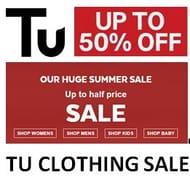 1/2 Price Tu Clothing Sale at Sainsburys