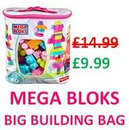 MEGA BLOKS Big Building Bag (60 Pieces) **4.7 STARS**