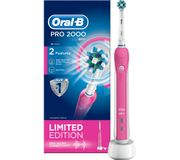 ORAL B Pro 2000 Electric Toothbrush - Pink