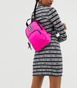 Hype exclusive one shoulder backpack in pink neon Only £9.5
